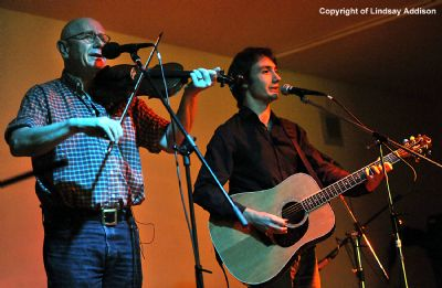 mcconville and newey performing at the douglasdale folk festival - copyright of lindsay addison